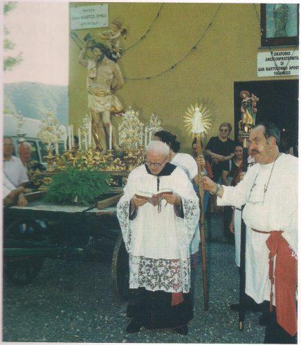 Cassa processionale dell'oratorio di San Bartolomeo di Viganego.